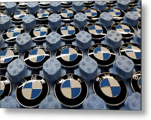 Logo Metal Print featuring the photograph BMW Ahead Of 2009 Earnings by Miguel Villagran