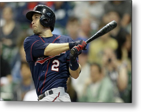 Three Quarter Length Metal Print featuring the photograph Brian Dozier by Mike Mcginnis