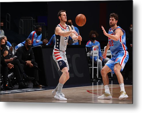 Nba Pro Basketball Metal Print featuring the photograph Brooklyn Nets v Washington Wizards by Ned Dishman
