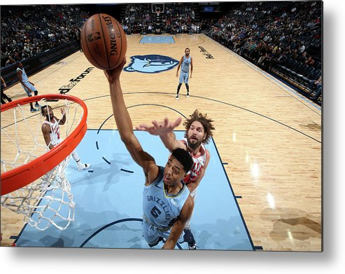 Nba Pro Basketball Metal Print featuring the photograph Bruno Caboclo by Joe Murphy