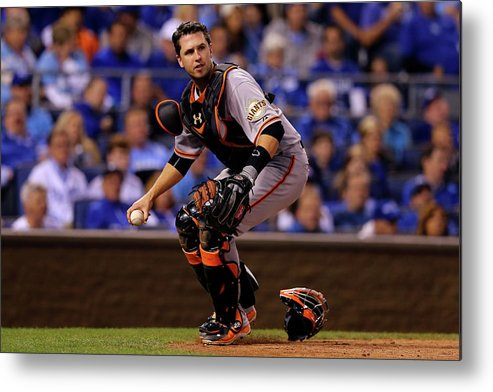 Buster Posey Metal Print featuring the photograph Buster Posey by Elsa