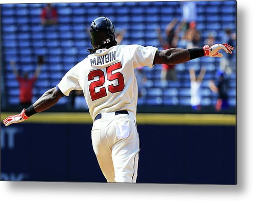 Atlanta Metal Print featuring the photograph Cameron Maybin by Daniel Shirey