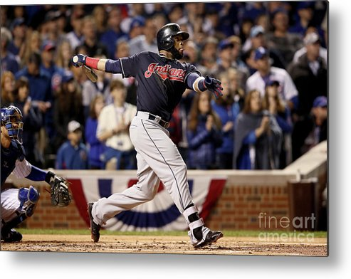 Second Inning Metal Print featuring the photograph Carlos Santana by Ezra Shaw