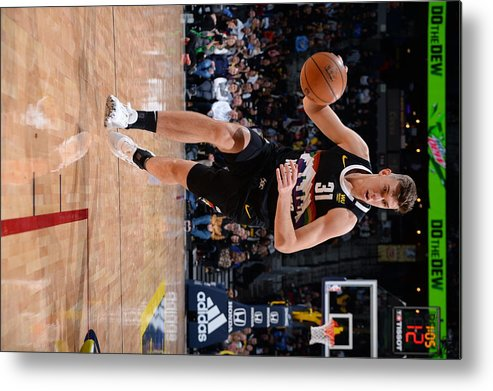 Nba Pro Basketball Metal Print featuring the photograph Charlotte Hornets v Denver Nuggets by Bart Young