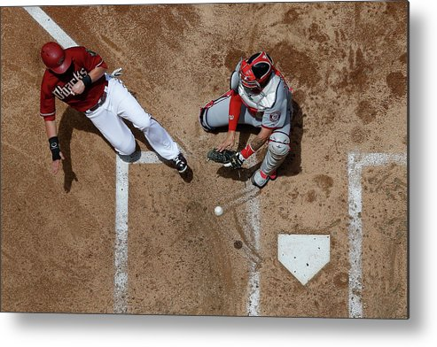Second Inning Metal Print featuring the photograph Chris Owings by Christian Petersen