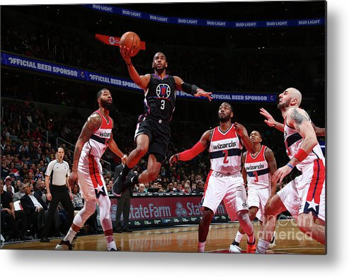Nba Pro Basketball Metal Print featuring the photograph Chris Paul by Ned Dishman