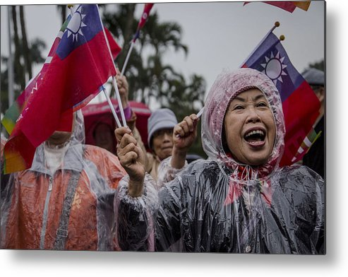 Taiwan Metal Print featuring the photograph Chu's Final Rally Ahead Of Taiwan Election by Ulet Ifansasti