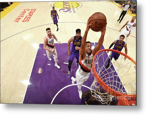 Nba Pro Basketball Metal Print featuring the photograph C.j. Mccollum by Andrew D. Bernstein