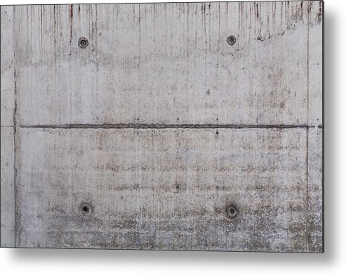 Material Metal Print featuring the photograph Concrete Wall Background by R.Tsubin
