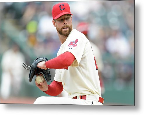 American League Baseball Metal Print featuring the photograph Corey Kluber by Jason Miller