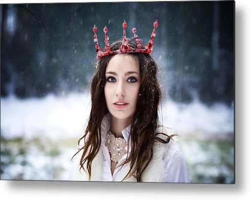 Crown Metal Print featuring the photograph coronation of Queen by Sergeeva