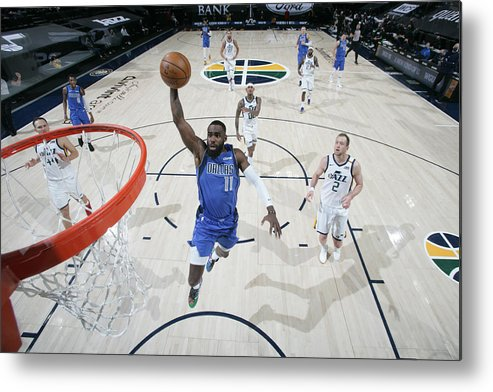 Tim Hardaway Jr. Metal Print featuring the photograph Dallas Mavericks v Utah Jazz by Melissa Majchrzak