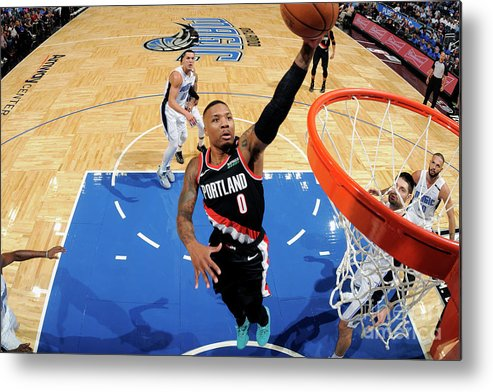 Nba Pro Basketball Metal Print featuring the photograph Damian Lillard by Fernando Medina