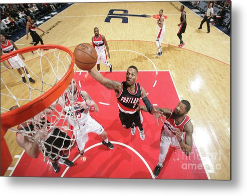 Nba Pro Basketball Metal Print featuring the photograph Damian Lillard by Ned Dishman