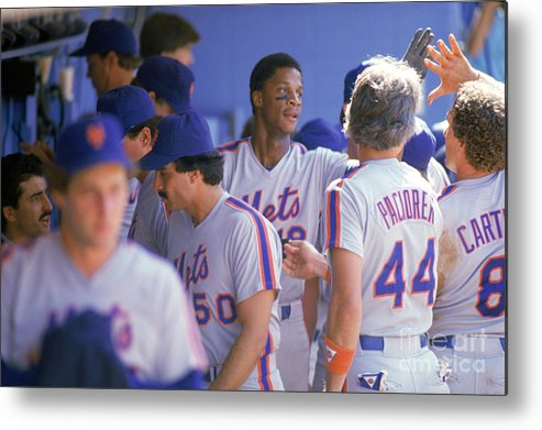 1980-1989 Metal Print featuring the photograph Darryl Strawberry by Andrew D. Bernstein