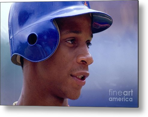 1980-1989 Metal Print featuring the photograph Darryl Strawberry by Ronald C. Modra