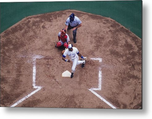 American League Baseball Metal Print featuring the photograph Dave Winfield by Ronald C. Modra/sports Imagery