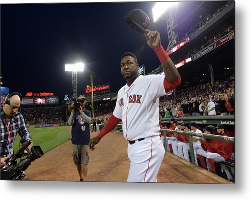 Crowd Metal Print featuring the photograph David Ortiz by Darren Mccollester