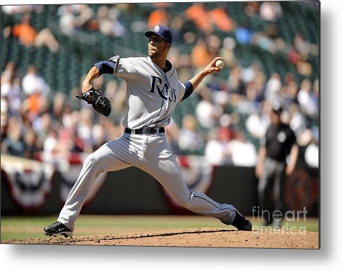 David Price Metal Print featuring the photograph David Price by G Fiume