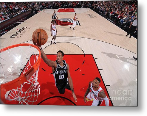 Nba Pro Basketball Metal Print featuring the photograph Demar Derozan by Sam Forencich