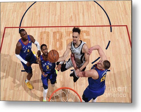 Nba Pro Basketball Metal Print featuring the photograph Derrick White by Garrett Ellwood
