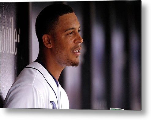 Second Inning Metal Print featuring the photograph Desmond Jennings by Brian Blanco