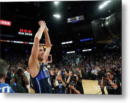 Nba Pro Basketball Metal Print featuring the photograph Dirk Nowitzki by Darren Carroll