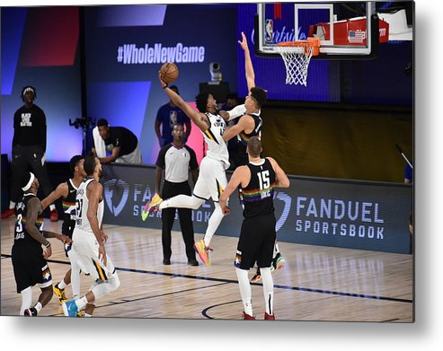 Playoffs Metal Print featuring the photograph Donovan Mitchell by David Dow