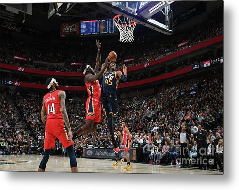 Nba Pro Basketball Metal Print featuring the photograph Donovan Mitchell by Noah Graham