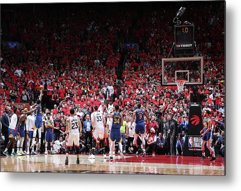 Playoffs Metal Print featuring the photograph Draymond Green and Kyle Lowry by Nathaniel S. Butler
