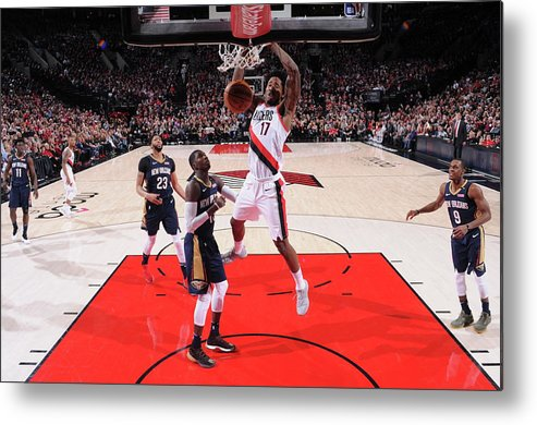 Playoffs Metal Print featuring the photograph Ed Davis by Sam Forencich