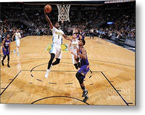 Nba Pro Basketball Metal Print featuring the photograph Emmanuel Mudiay by Garrett Ellwood