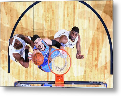 Smoothie King Center Metal Print featuring the photograph Enes Kanter by Layne Murdoch