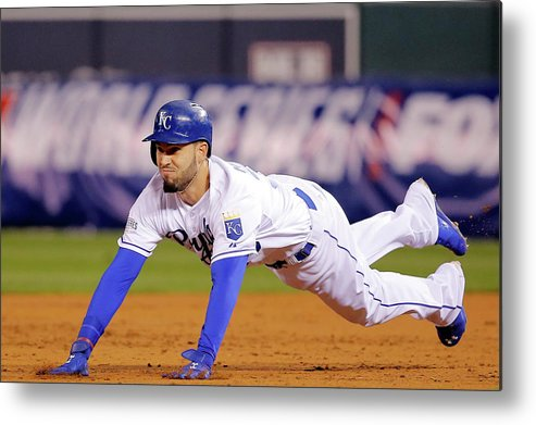 Second Inning Metal Print featuring the photograph Eric Hosmer by Doug Pensinger