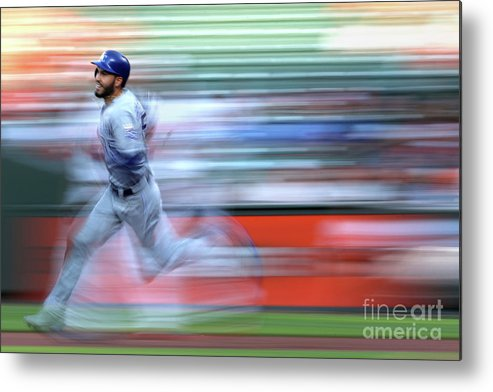 People Metal Print featuring the photograph Eric Hosmer by Patrick Smith