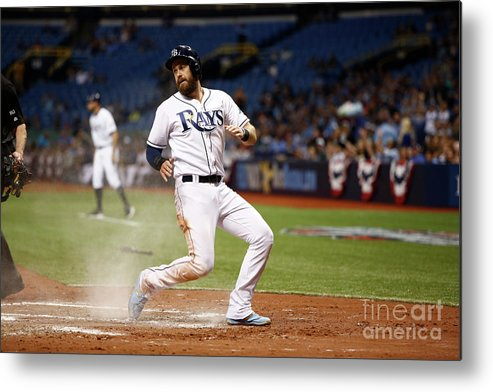 Second Inning Metal Print featuring the photograph Evan Longoria and Derek Norris by Brian Blanco