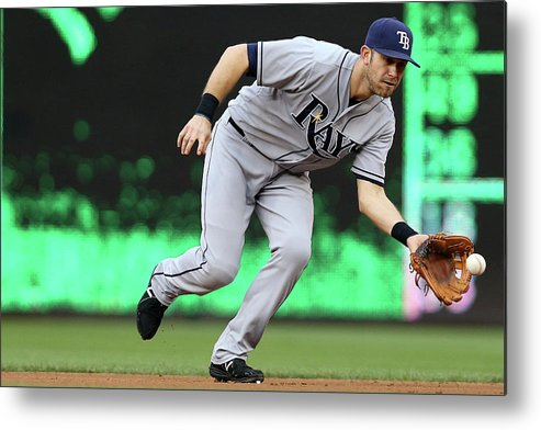 Second Inning Metal Print featuring the photograph Evan Longoria by Patrick Smith