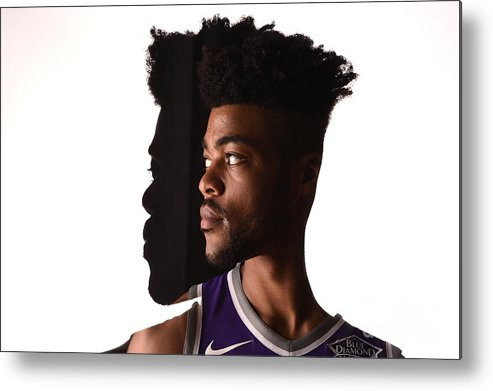 Nba Pro Basketball Metal Print featuring the photograph Frank Mason by Brian Babineau