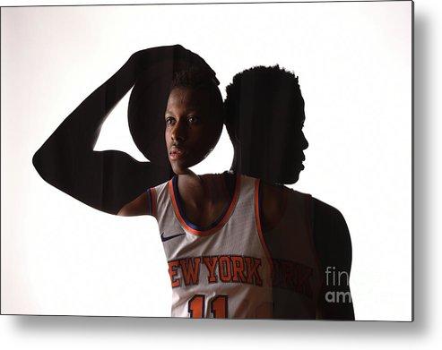 Nba Pro Basketball Metal Print featuring the photograph Frank Ntilikina by Brian Babineau