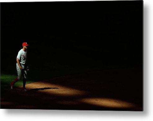 Ninth Inning Metal Print featuring the photograph Freddy Galvis by Christian Petersen
