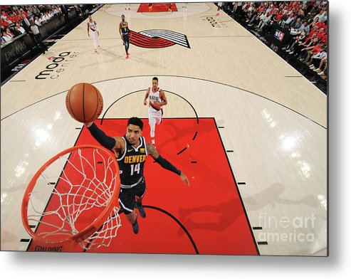 Nba Pro Basketball Metal Print featuring the photograph Gary Harris by Cameron Browne