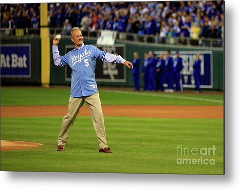 People Metal Print featuring the photograph George Brett by Jamie Squire