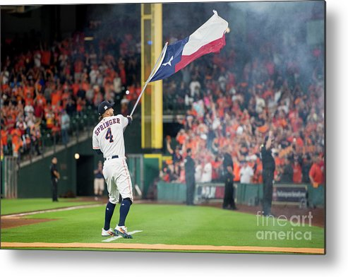 People Metal Print featuring the photograph George Springer by Billie Weiss/boston Red Sox