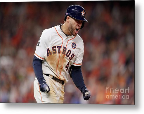 Three Quarter Length Metal Print featuring the photograph George Springer by Christian Petersen