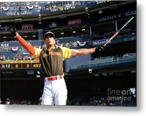 Three Quarter Length Metal Print featuring the photograph Giancarlo Stanton by Harry How