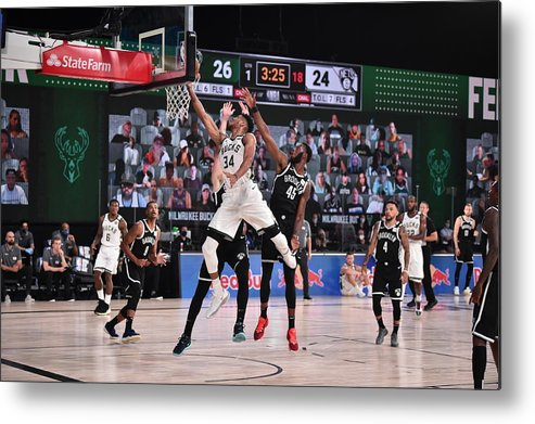 Nba Pro Basketball Metal Print featuring the photograph Giannis Antetokounmpo by David Dow