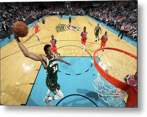 Nba Pro Basketball Metal Print featuring the photograph Giannis Antetokounmpo by Zach Beeker