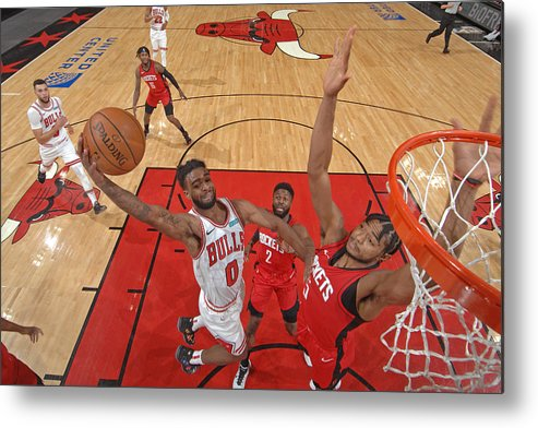 Coby White Metal Print featuring the photograph Houston Rockets v Chicago Bulls by Randy Belice