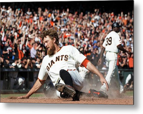San Francisco Metal Print featuring the photograph Hunter Pence by Jason O. Watson