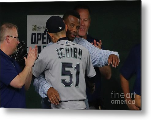 International Match Metal Print featuring the photograph Ichiro Suzuki by Alex Trautwig